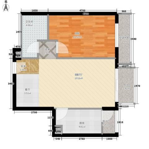 热电小区1室1厅1卫1厨73.00㎡户型图