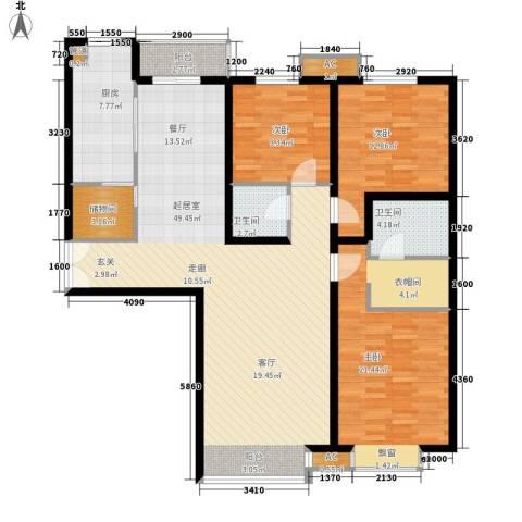 祥瑞大厦3室0厅2卫1厨164.00㎡户型图