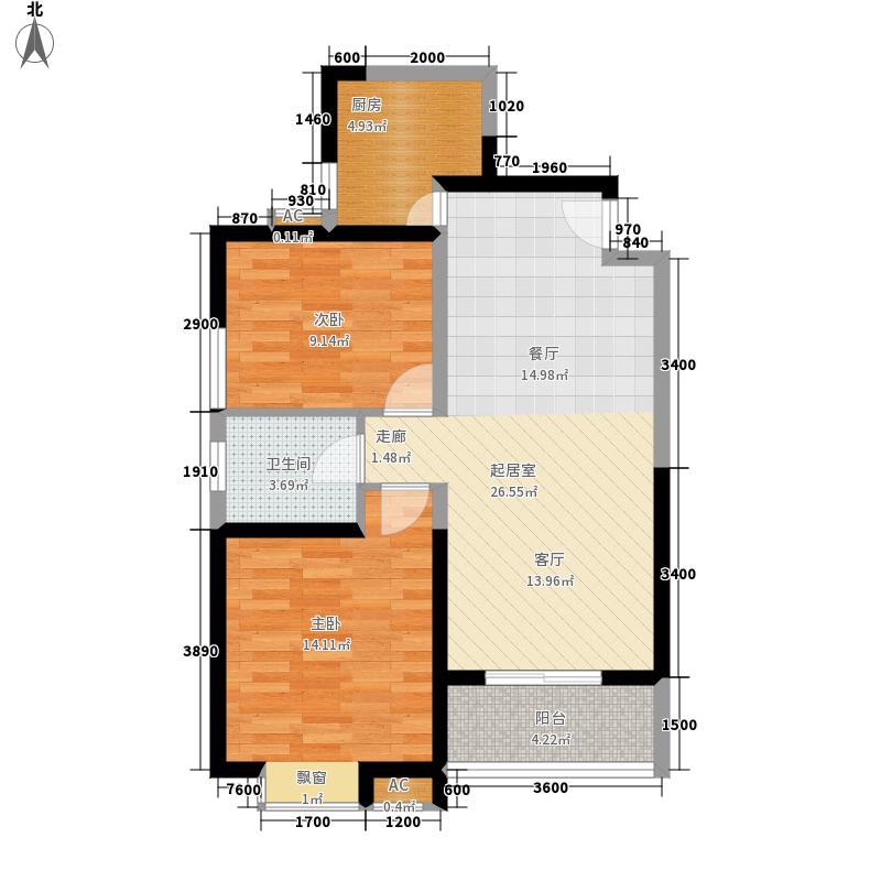 203所家属院80.00㎡面积8000m户型