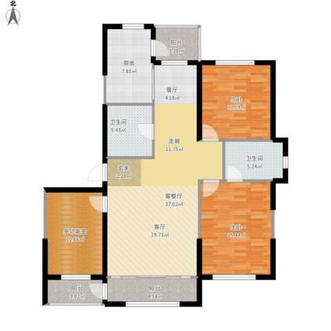 鼎力叶知林2室1厅2卫1厨147.00㎡户型图