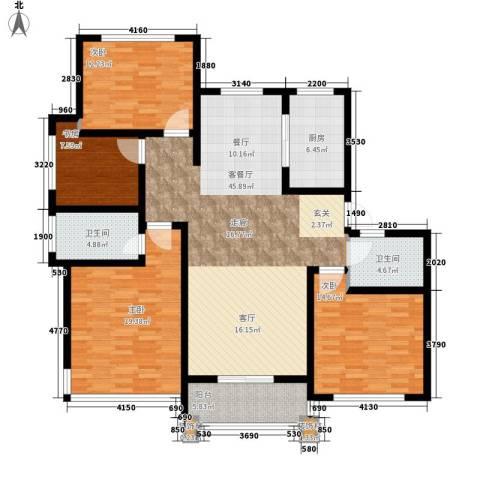 丁香公馆4室1厅2卫1厨139.00㎡户型图