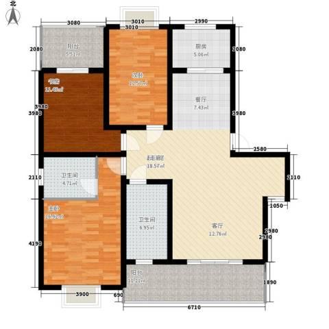 倚山书香居3室0厅2卫1厨161.00㎡户型图