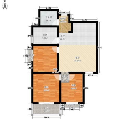亚凯园3室1厅1卫1厨116.00㎡户型图