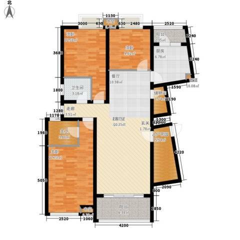 城市经典3室0厅1卫1厨154.00㎡户型图