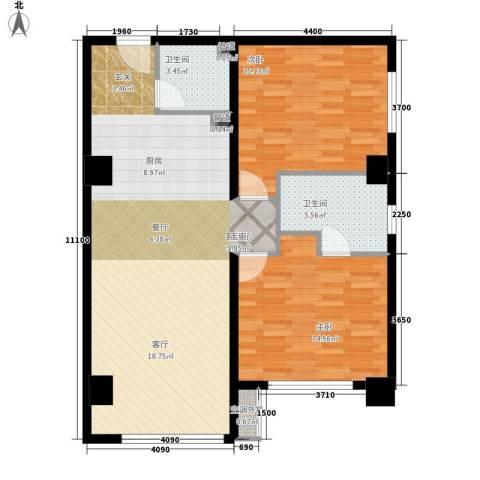 省出版社家属院2室1厅2卫0厨111.00㎡户型图