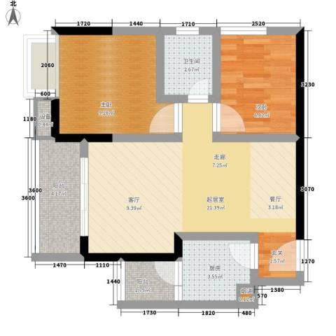 城市印象2室0厅1卫1厨59.00㎡户型图