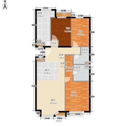 金港国际3室0厅2卫1厨147.00㎡户型图