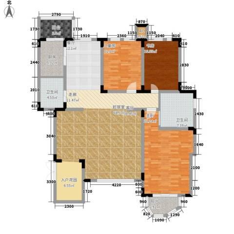 第六大道3室0厅2卫1厨186.00㎡户型图