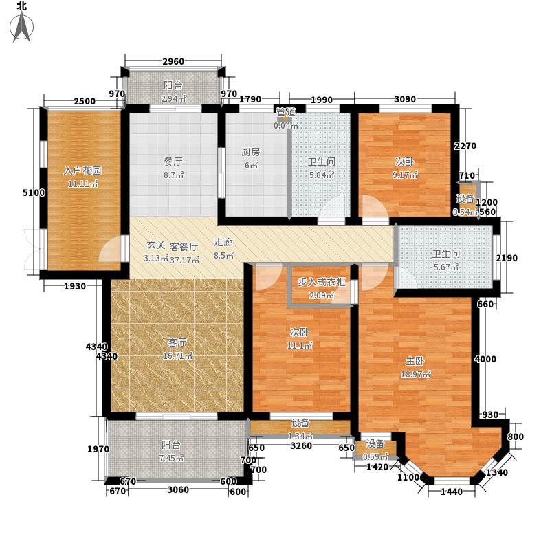 中南世纪城140.00㎡第一期第四栋C户型