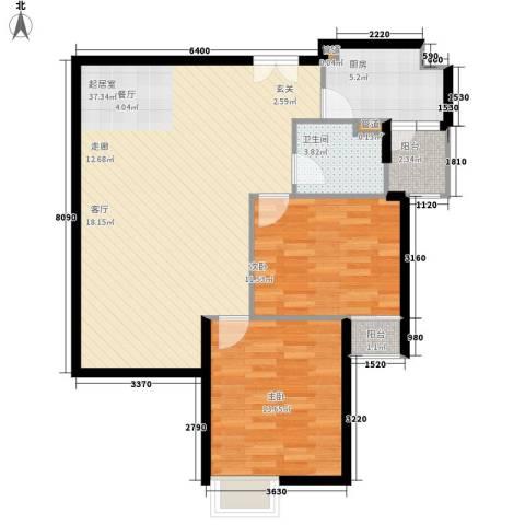 中远两湾城四期2室0厅1卫1厨104.00㎡户型图