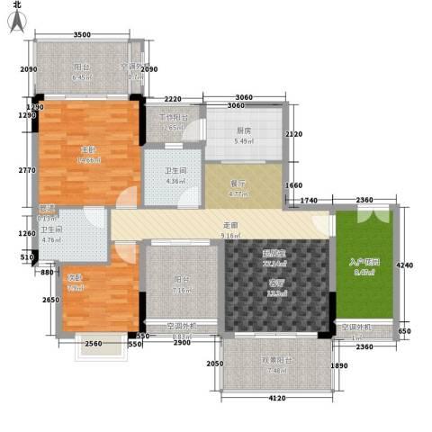 逸泉山庄别墅2室0厅2卫1厨110.00㎡户型图