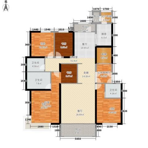 汤河铭筑3室0厅3卫1厨226.00㎡户型图