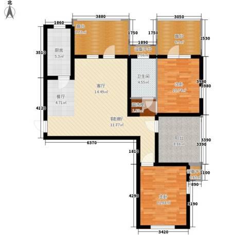 里维埃拉竹海2室1厅1卫1厨101.00㎡户型图