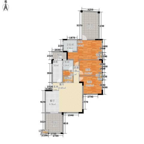 融科蔚城3室0厅2卫1厨130.21㎡户型图