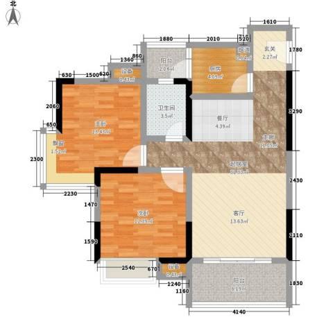 城市印象2室0厅1卫1厨73.96㎡户型图
