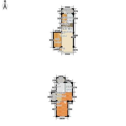 恒盛温泉新城3室1厅2卫1厨164.00㎡户型图
