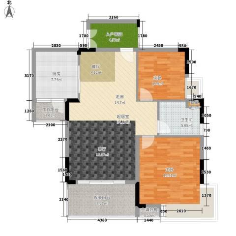 逸泉山庄别墅2室0厅1卫1厨97.00㎡户型图