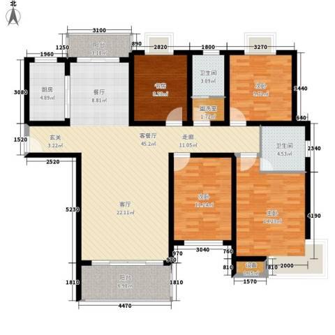 安鑫雅庭4室1厅2卫1厨148.00㎡户型图