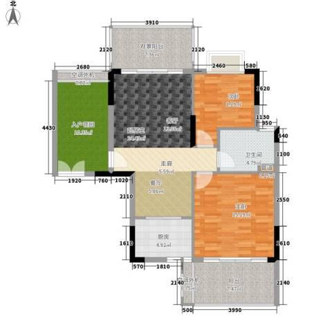 逸泉山庄别墅2室0厅1卫1厨93.00㎡户型图