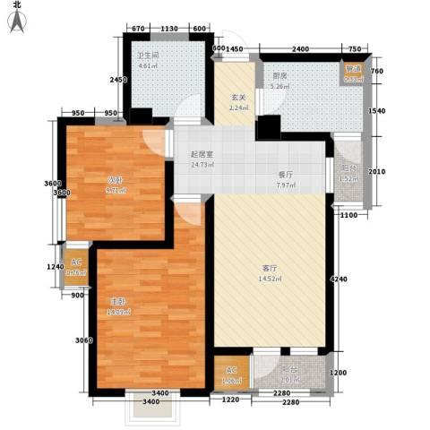 观锦2室0厅1卫1厨92.00㎡户型图