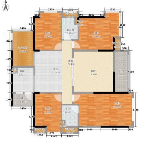 中源国际城4室2厅2卫1厨143.00㎡户型图