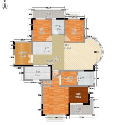 卧龙五洲世纪城3室0厅2卫1厨180.00㎡户型图
