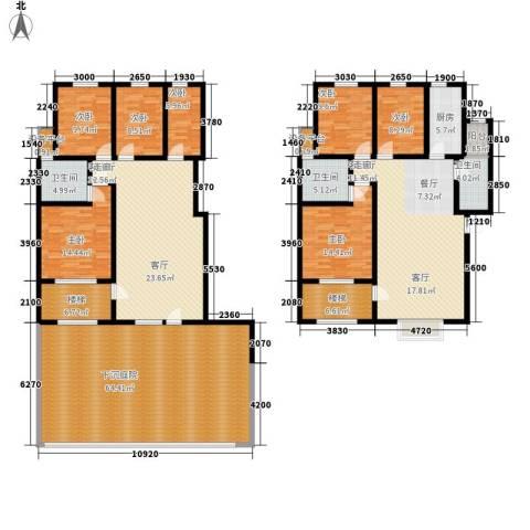 里维埃拉竹海7室2厅3卫1厨244.87㎡户型图
