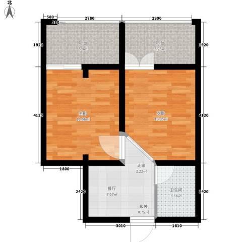 江临天下2室1厅1卫0厨53.00㎡户型图