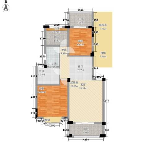 志城江山郡2室0厅1卫1厨91.80㎡户型图