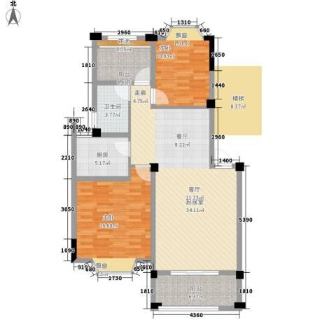 志城江山郡2室0厅1卫1厨92.66㎡户型图
