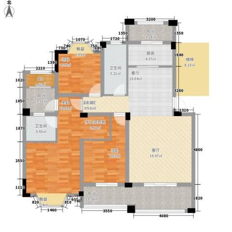 志城江山郡3室0厅2卫1厨121.26㎡户型图