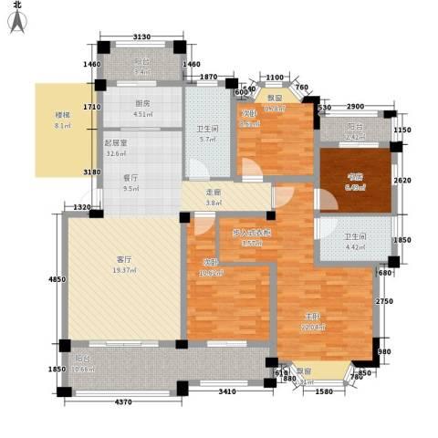 志城江山郡4室0厅2卫1厨129.16㎡户型图
