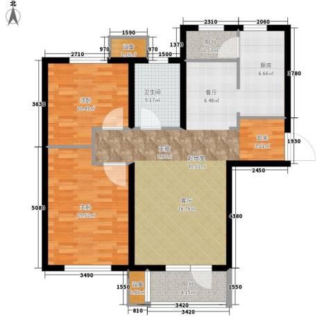 明城东岸2室0厅1卫0厨92.00㎡户型图