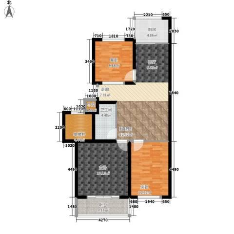 滨海龙城一期3室0厅1卫1厨100.00㎡户型图