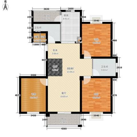 嘉业・阳光城3室1厅2卫1厨135.00㎡户型图