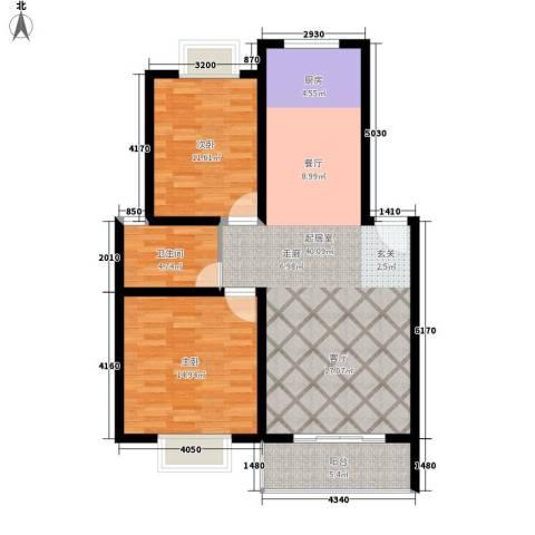 御景庄园2室0厅1卫0厨86.00㎡户型图