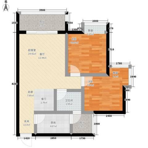 优活城2室0厅1卫1厨62.00㎡户型图