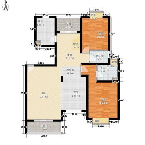 鑫宇住宅小区2室0厅2卫1厨150.00㎡户型图