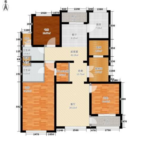 上河湾3室0厅2卫1厨150.00㎡户型图