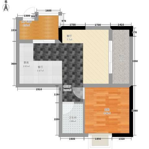 荣升部落格1室1厅1卫0厨44.00㎡户型图