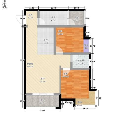 优活城2室0厅1卫1厨67.00㎡户型图