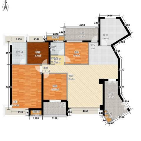 维一星城・原山苑4室0厅2卫1厨166.00㎡户型图