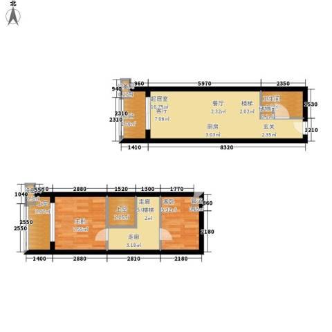 碧桂园空港国际2室0厅1卫0厨55.00㎡户型图