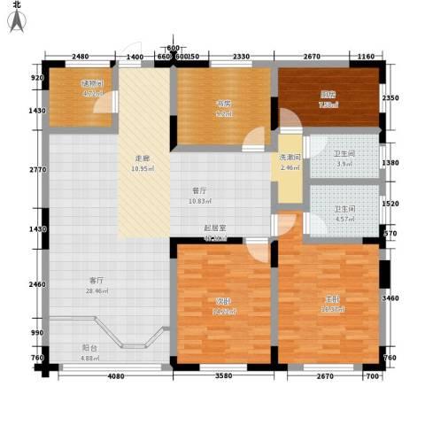 龙湖水晶郦城四组团3室0厅2卫1厨160.00㎡户型图