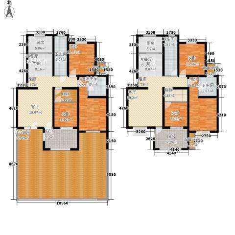 里维埃拉竹海6室2厅4卫2厨286.71㎡户型图