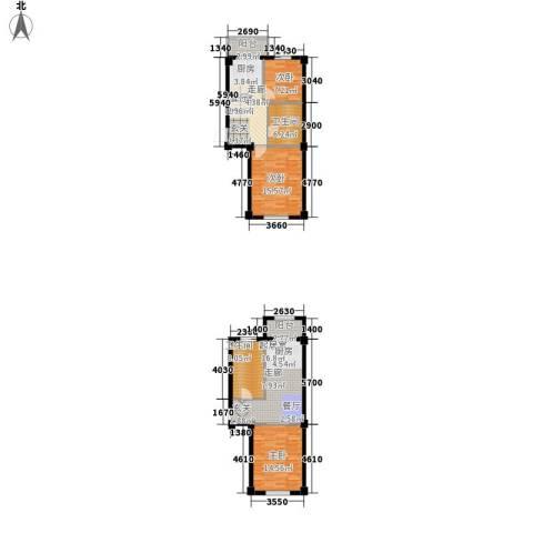 恒盛温泉新城3室0厅2卫0厨125.00㎡户型图