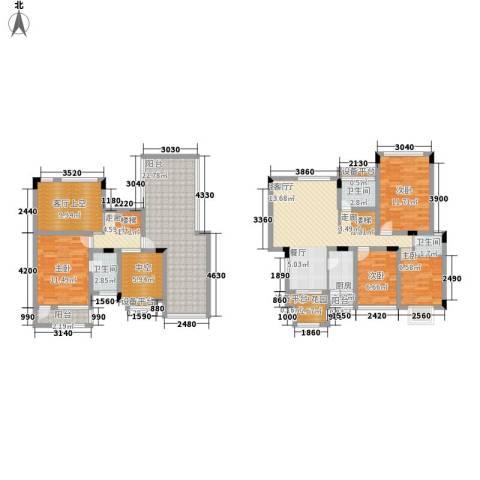 佳华世纪新城C区4室1厅3卫1厨210.00㎡户型图