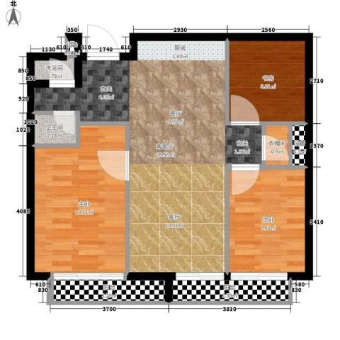 化肥厂家属院3室1厅1卫0厨87.00㎡户型图