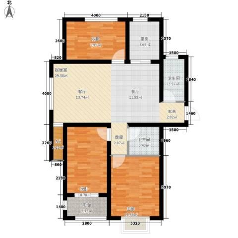 龙栖江南3室0厅2卫1厨112.00㎡户型图