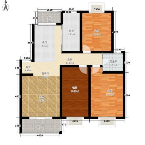 中南世纪城3室1厅1卫1厨120.00㎡户型图